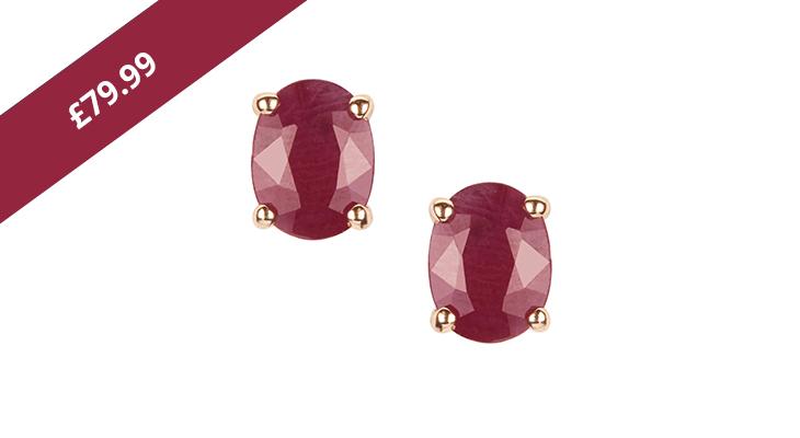 Burmese Ruby Gold Earrings