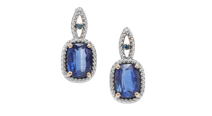 Nilamani & Blue Diamond Earrings