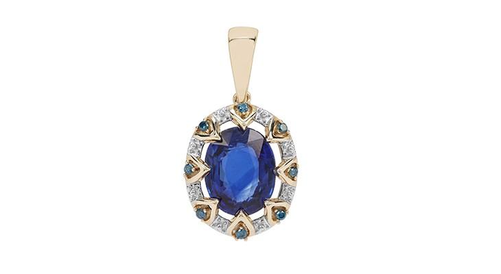 Nilamani & Blue Diamond Pendant