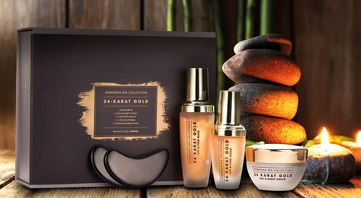 24 KARAT GOLD SPA SET