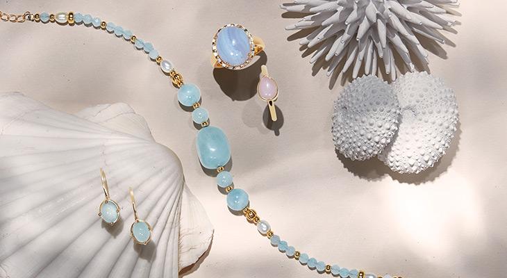 Pastel gemstone jewelry