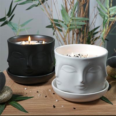 Zen Flower Pot Candle