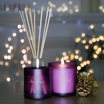 Amethyst Candle & Reed Diffuser Set