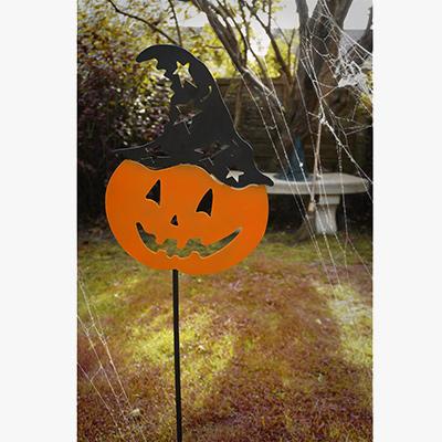Metal Pumpkin Head