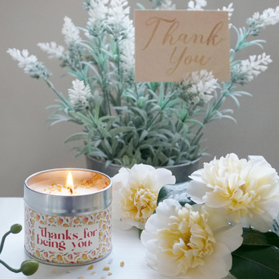 'Thanks For Being You' Tin Candle
