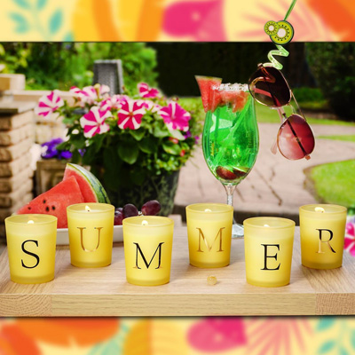 Summer Vibes Set of Six Candles