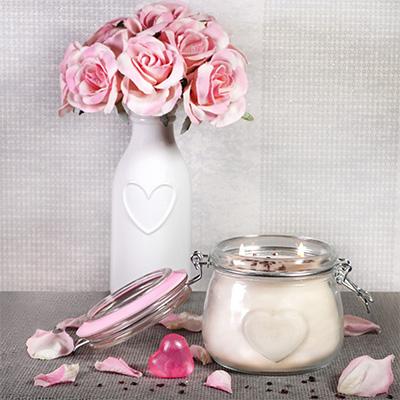 Heart Mason Jar Candle
