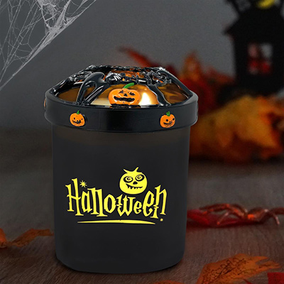 Halloween Candle with Topper
