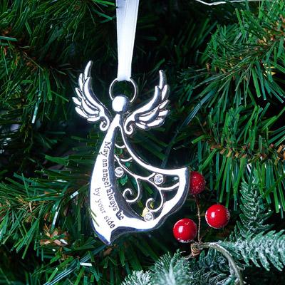 Set of 3 Metal Angel Tree Decorations
