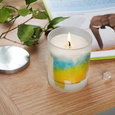 Elephant Candle with Pomegranate Scent