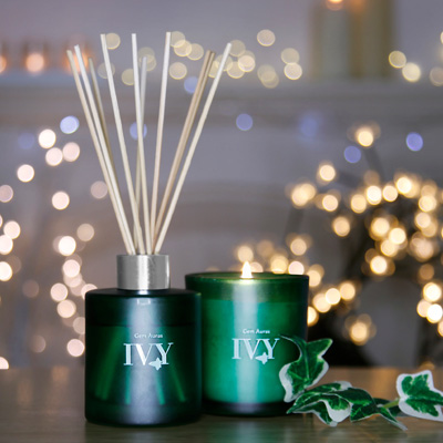 Ivy Candle & Reed Diffuser Set with Citrine