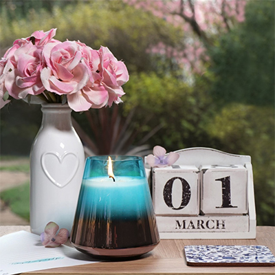 Ore March Birthstone Candle
