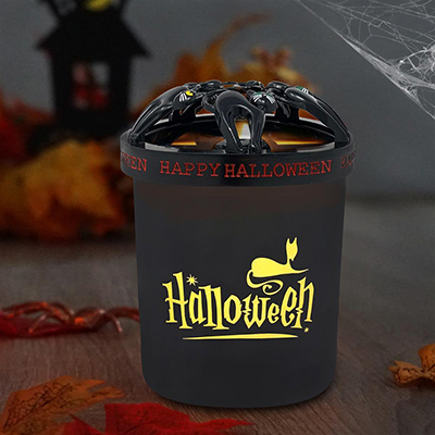 Halloween Candle with Cat Topper
