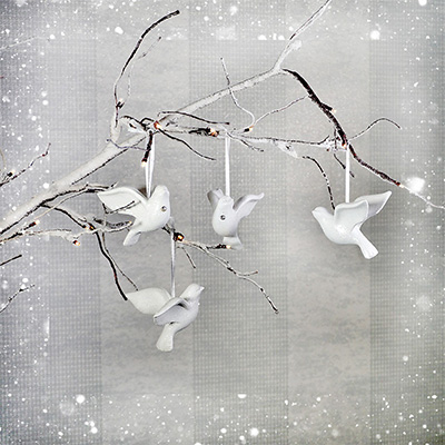 Hanging Dove Christmas Decorations