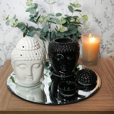Ceramic Buddha Head Oil Burner