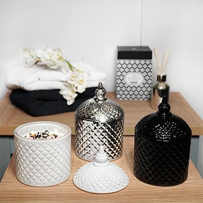 Ornate Jar Candle - Oud Fragrance