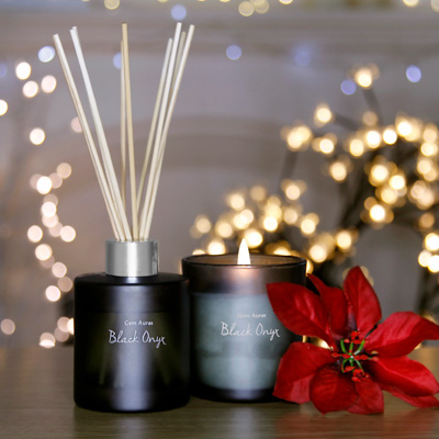 Black Onyx Candle & Reed Diffuser Set